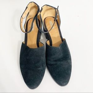 Ecote black suede ankle booties
